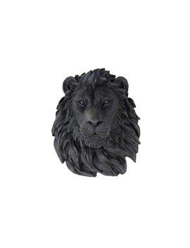 Faux Taxidermy  Lion Head    Black Lion Wall Mount L17 by Etsy