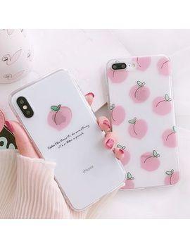 Primitivo   Peach Print Phone Case   I Phone 6 / 6 Plus / 7 / 7 Plus / 8 / 8 Plus / X by Primitivo