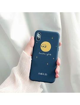 Make Workshop   Smiley Moon Print Mobile Case   I Phone X / 8 / 8 Plus / 7 / 7 Plus / 6s / 6s Plus by Make Workshop
