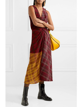 Patchwork Checked Wool Tweed And Crepe Dress by Acne Studios