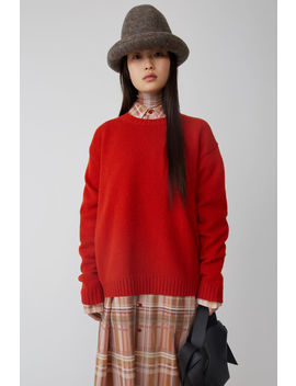 Basic Sweater Brick Red by Acne Studios