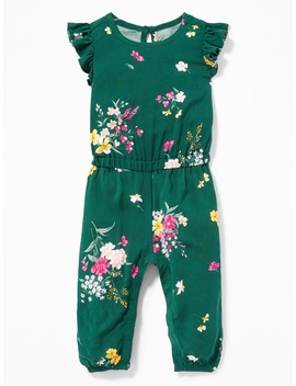 Ruffle Trim Floral Romper For Baby by Old Navy