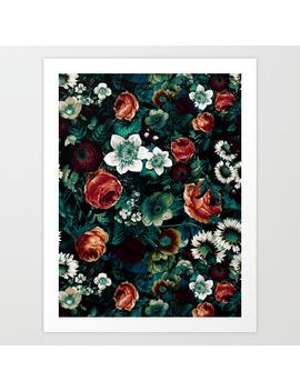 Midnight Garden Viii Art Print by