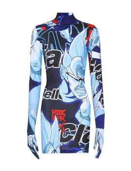 Women's Blue Printed Jersey Glove Dress by Vetements