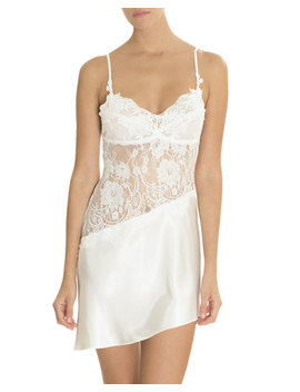 Carina Lace Inset Satin Chemise by Jonquil