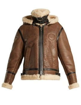 Shearling And Leather Aviator Jacket by Chloé