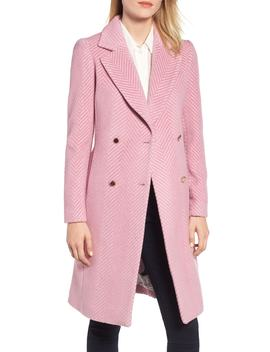 Chevron Wool & Cashmere Coat by Ted Baker London