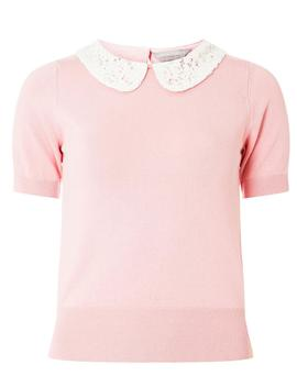 Petite Pink Knitted T Shirt by Dorothy Perkins