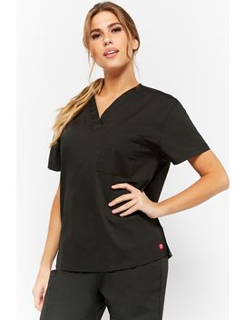 V Neck Scrub Top by Forever 21