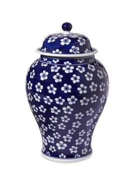 """Blue & White Ginger Jar With Lid, 12"""" Urn by Williams   Sonoma"""
