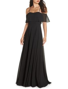 Chiffon Cold Shoulder Gown by Hayley Paige Occasions