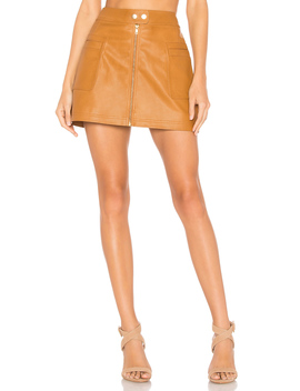High A Line Vegan Leather Skirt by Free People