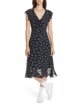 Ruffled Floral Midi Dress by Polo Ralph Lauren