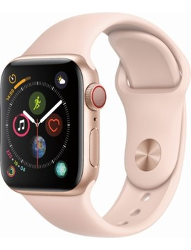 Apple Watch Series 4 (Gps + Cellular), 40mm Gold Aluminum Case With Pink Sand Sport Band   Gold Aluminum (Verizon) by Apple