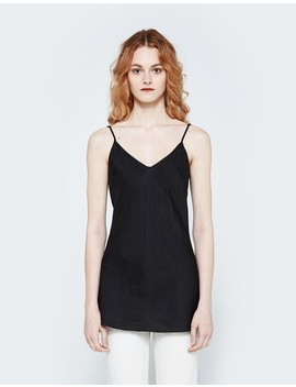 Bias Camisole In Black by Organic By John Patrick