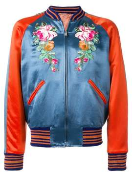 Gucciembroidered Appliqué Bomber Jacket White All Star Low 70's Trainersblack Classic Jeans With Tape Deutsch T Shirtboxy Shirtembroidered Appliqué Bomber Jacket by Gucci