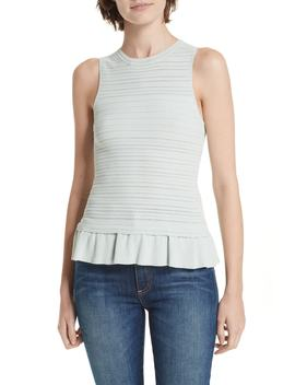Pointelle Knit Tank by Rebecca Taylor
