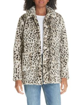 Faux Lynx Fur Coat by La Vie Rebecca Taylor