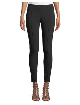 Wool Stretch Side Zip Skinny Pants by Valentino