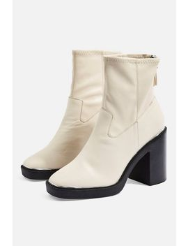 Highland Leather Ankle Boots by Topshop