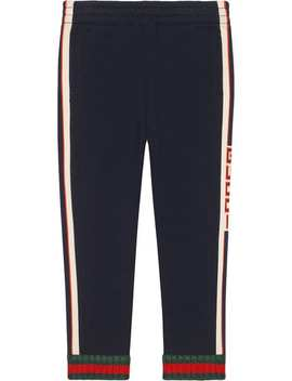 Gucci Kids Children's Pant With Gucci Jacquard Trimhome Kids Gucci Kids Boys Clothing Boys Casual Trousers by Gucci Kids