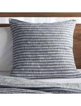 Zoli Muslin Euro Pillow Sham by Crate&Barrel