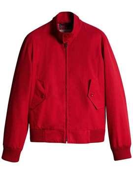 Burberry Slim Fit Tropical Gabardine Harrington Jacket by Burberry