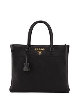 Medium Daino Leather Tote Bag by Prada