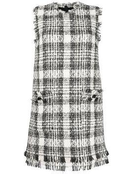 Tweed Shift Dress by Msgm