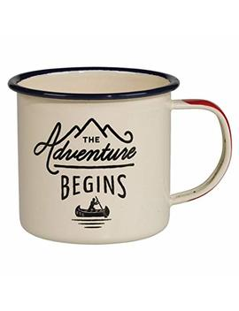 Gentlemen's Hardware Adventure Enamel Camping Coffee Mug, Cream (12 Oz) by Gentlemen's Hardware