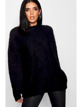 Oversized Balloon Sleeve Fluffy Knit Jumper by Boohoo