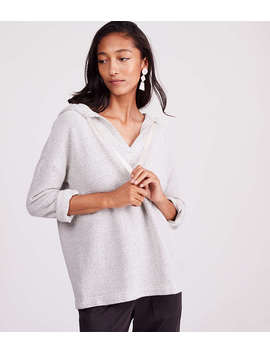 Lou &Amp; Grey Tweed Hoodie Top by Loft