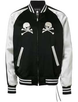 Mastermind Worldembroidered Skull Bomber Jacket Running Sneakersdrop Crotch Zip Detail Trousersplain T Shirtembroidered Skull Bomber Jacket by Mastermind World