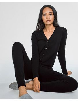 Cashmere V Neck Jumpsuit by White + Warren