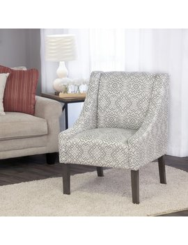 Home Pop Swoop Accent Chair In Tonal Gray by Home Pop