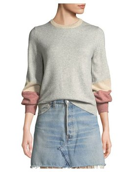 Greenville Bishop Sleeve Crewneck Sweater by Cupcakes And Cashmere