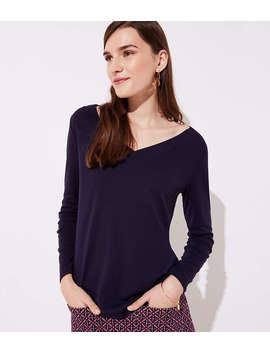 V Neck Long Sleeve Tee by Loft