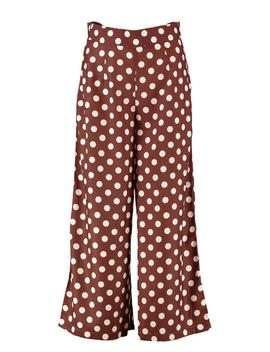 Woven Large Polka Dot Wide Leg Culottes by Boohoo