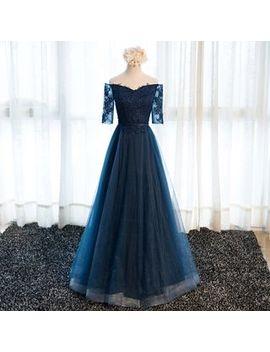 Miss D   Off Shoulder A Line Evening Gown by Miss D