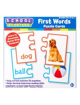 Tara Toy School Starters – First Words Puzzle Cards Activity; Back To School 2018 by School Starters