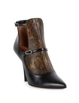 New Feminine Line Python & Leather Cutout Booties by Givenchy