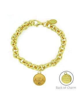 Signature Alpha Kappa Alpha Gold Link Bracelet by Etsy