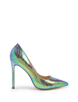Iridescent Pointed Toe Pumps by Forever 21