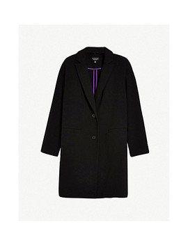 Single Breasted Crepe Coat by Topshop