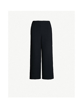 High Rise Wide Crepe Trousers by Whistles