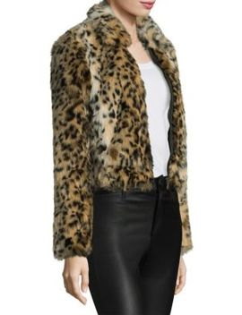 Kate Faux Fur Leopard Bomber by Joe's