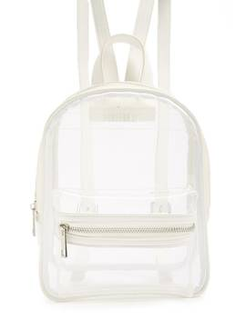 Translucent Buckle Strap Backpack by Forever 21