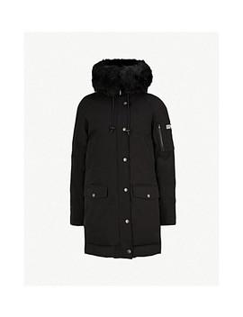 Faux Fur Wool Blend Parka Coat by Kenzo