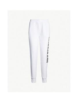 Logo Print Cotton Jersey Jogging Bottoms by Calvin Klein Jeans