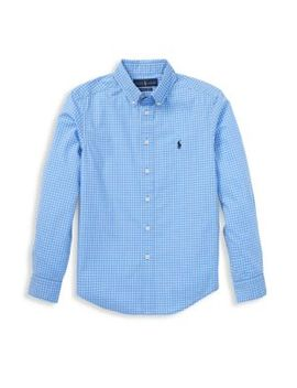 Little Boy's & Boy's Checkered Poplin Shirt by Ralph Lauren